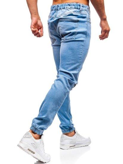Svetlomodré pánske riflové jogger nohavice BOLF 2044-1