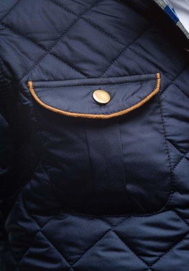 Tmavě modrá pánská přechodová husky bunda Bolf 7000-1