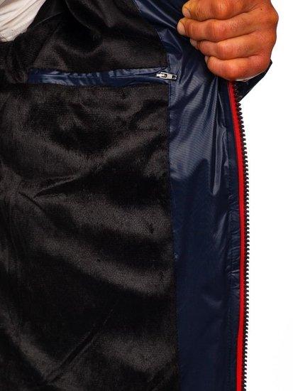 Tmavmodrá pánska zimná bunda Bolf 5847