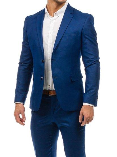 Tmavmodrý-1 pánsky oblek BOLF 1000