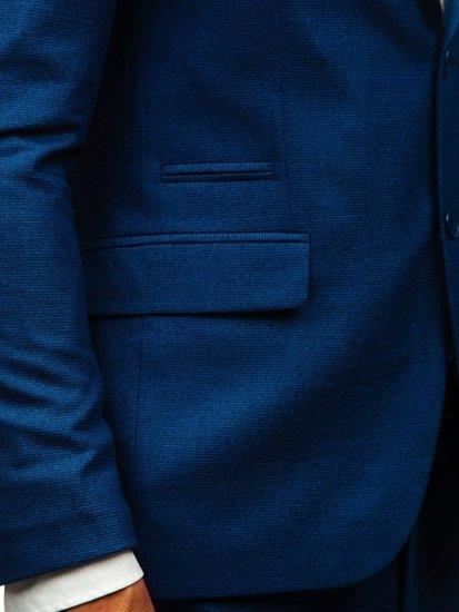 Tmavmodrý pánsky oblek BOLF 19200-1