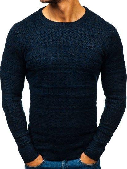 Tmavmodrý pánsky sveter BOLF H1805