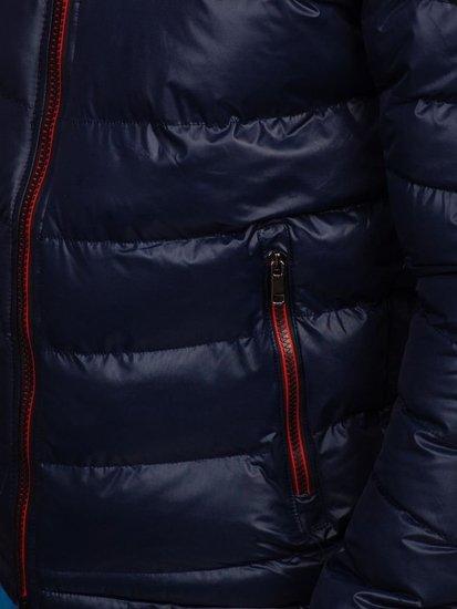 Tmavomodrá pánska prechodná bunda Bolf 5847