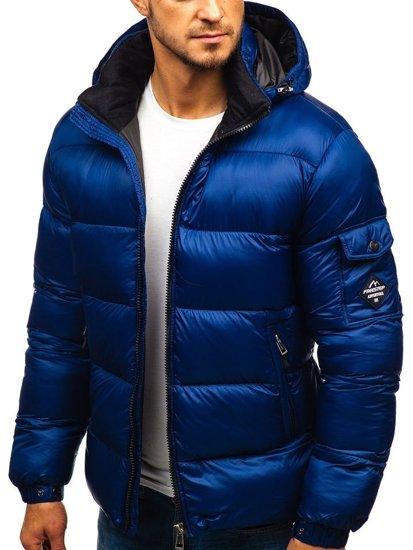 Tmavomodrá pánska zimná bunda BOLF AB64