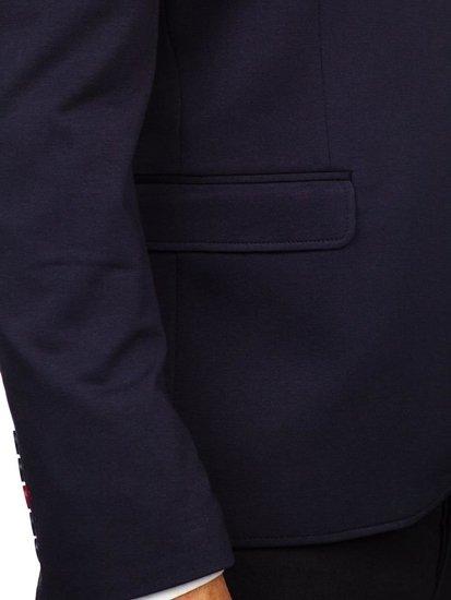 Tmavomodré pánske elegantné sako Bolf RBR406