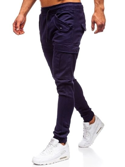 Tmavomodré pánske kapsáčové joggery Bolf 1005