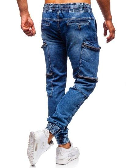 Tmavomodré pánske rifľové joggery Bolf KA365