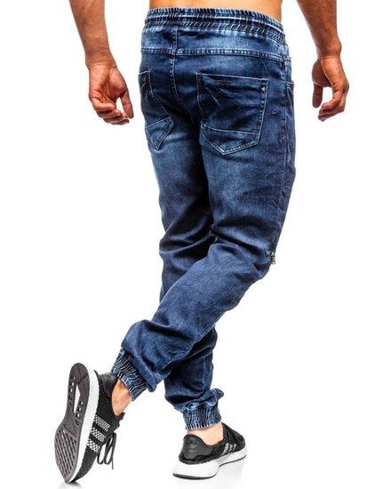 Tmavomodré pánske rifľové joggery Bolf  KA576