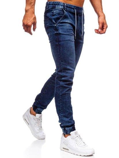 Tmavomodré pánske rifľové joggery Bolf KA666