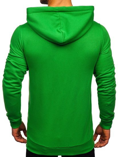 Zelená pánska mikina s kapucňou BOLF 02