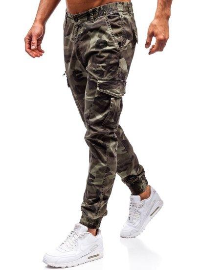 Zelené pánske kapsáčové joggery BOLF 5398