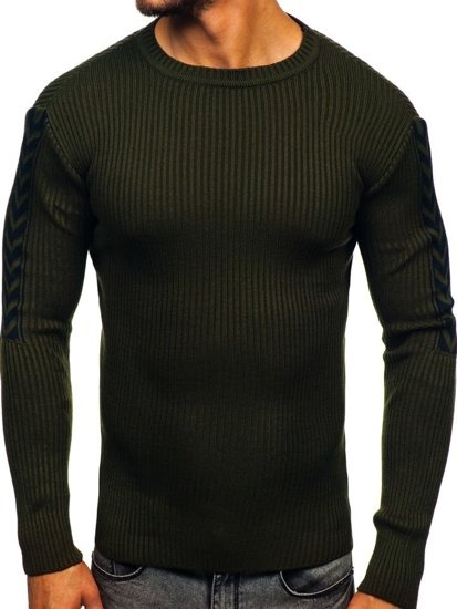 Zelený pánsky sveter Bolf 360