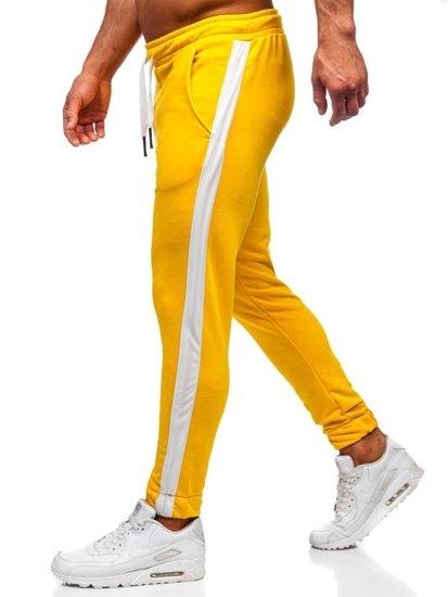 Žlté pánske tepláky Bolf 11120