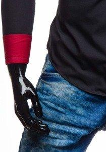 Čierna pánska elegantná košeľa s dlhými rukávmi BOLF 5819