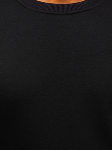 Čierna pánska mikina bez kapucne Bolf 2001