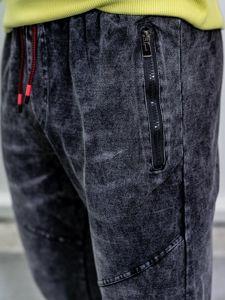 Čierna pánske rifľové joggery BolfKK1055