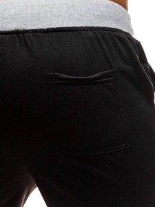 Čierne pánske teplákové kraťasy BOLF EX06