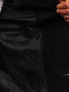 Čierny pánsky zimný kabát Bolf 0010
