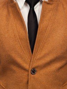 Kamelový pánsky zimný kabát Bolf 0010