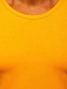 Oranžové pánske tielko bez potlače Bolf 99001