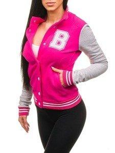 Ružová dámska mikina BOLF 19S