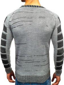 Šedý pánsky sveter BOLF 6007