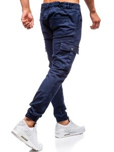 Tmavomodré pánske jogger nohavice BOLF 2039-1