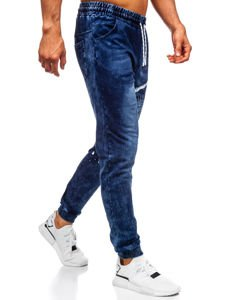 Tmavomodré pánske rifľové joggery Bolf KK1038